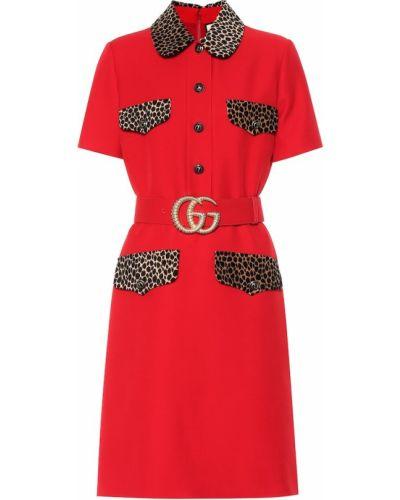 Платье миди шелковое винтажная Gucci
