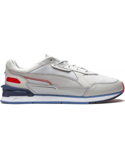 Кожаные белые кроссовки на шнурках Puma