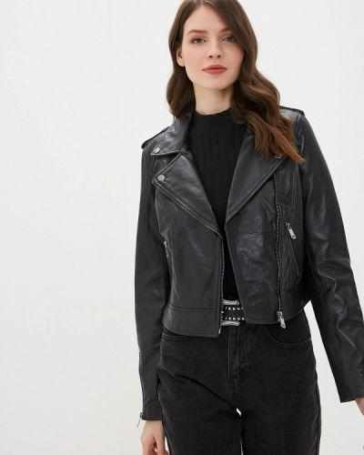 Кожаная куртка черная весенняя La Reine Blanche