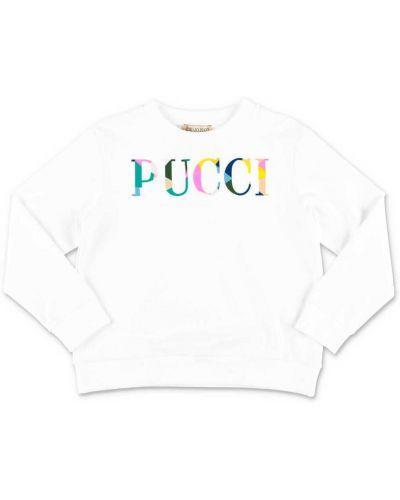Biała bluza bawełniana Emilio Pucci