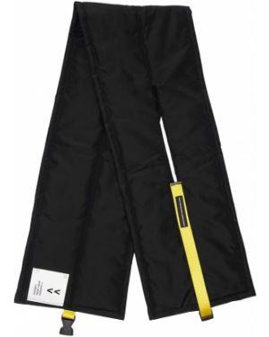 Prążkowany czarny szalik bawełniany Tdt - Tourne De Transmission