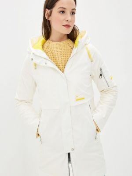 Теплая белая утепленная куртка Malinardi