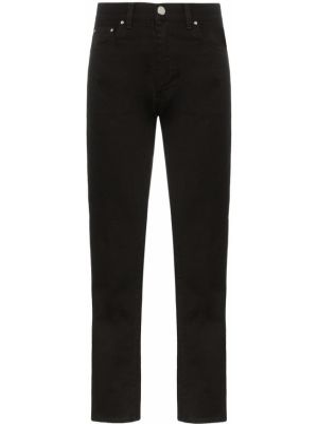 Czarne jeansy z wysokim stanem bawełniane Toteme