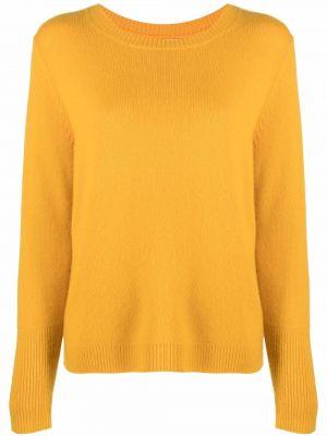 Желтый шерстяной длинный свитер с длинными рукавами Chinti And Parker