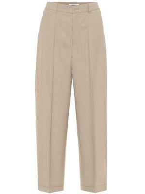 Шерстяные бежевые брюки Agnona