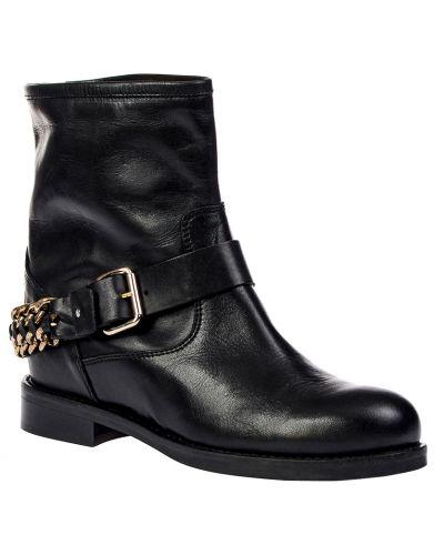Ботинки на каблуке осенние кожаные Elisabetta Franchi