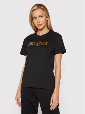 T-shirt z cekinami - czarna Karl Kani