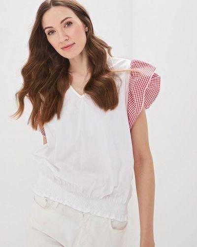 Блузка с коротким рукавом белая весенний Massimiliano Bini