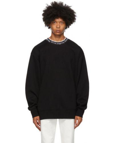 Długo biały bluza z logo na trądzik Acne Studios