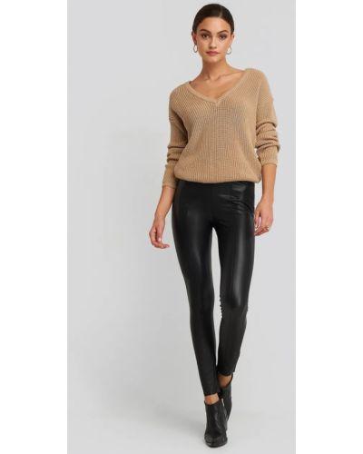 Кожаные брюки - черные Na-kd