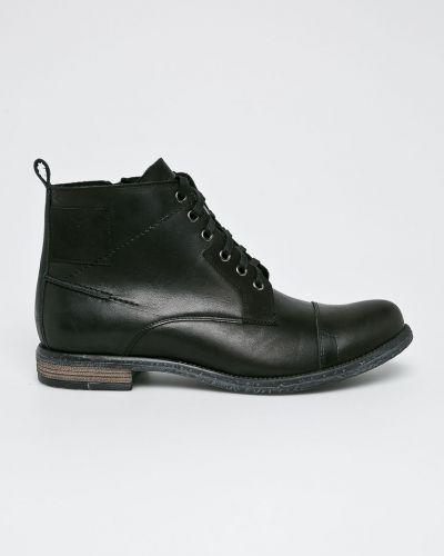 Ботинки на шнуровке кожаные высокие Conhpol