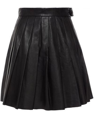 Черная плиссированная юбка Maje