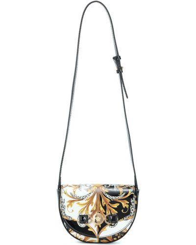 Skórzany torba złoto Versace Kids