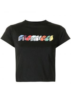 Czarna t-shirt krótki rękaw Fiorucci