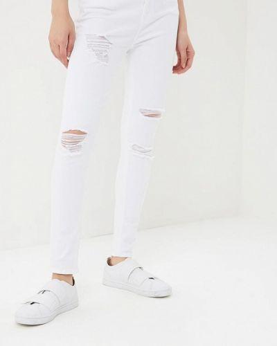 Белые джинсы рваные Topshop