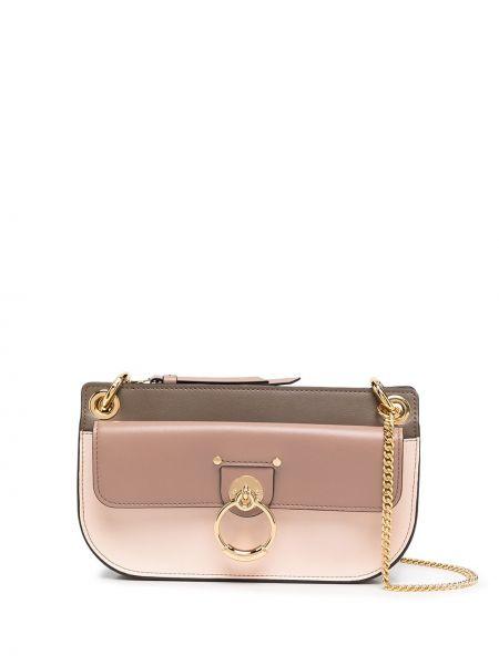 Skórzany z paskiem brązowy torba kosmetyczna Chloe