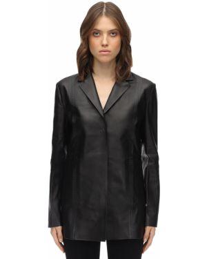 Черный кожаный классический пиджак с накладными карманами 1017 Alyx 9sm