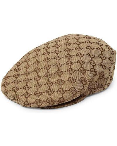 Klasyczna beżowa czapka bawełniana Gucci