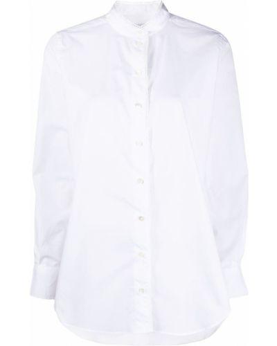 Хлопковая с рукавами белая рубашка Closed