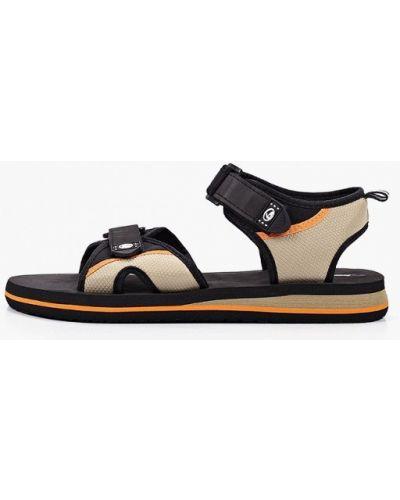 Текстильные черные сандалии Beppi