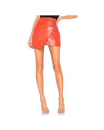 Кожаная юбка с запахом из искусственной кожи Blanknyc