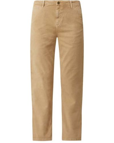 Mom jeans bawełniane - brązowe Carhartt Work In Progress