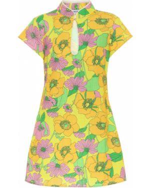 Платье мини винтажная с цветочным принтом Rixo