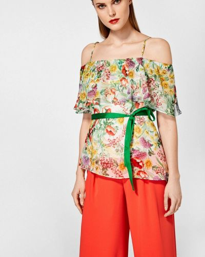 Блузка с открытыми плечами весенний Pedro Del Hierro