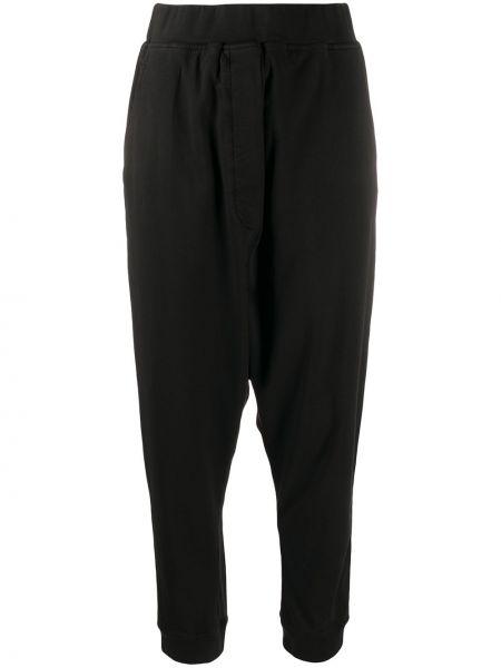 Черные спортивные брюки с заниженным шаговым швом с карманами с низкой посадкой Rundholz