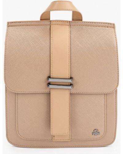 Коричневый кожаный рюкзак United Colors Of Benetton