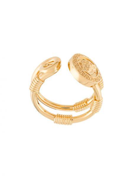 Кольцо металлический с логотипом Versace