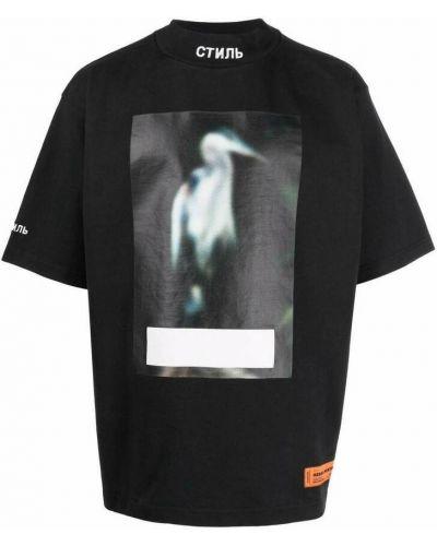 Czarna t-shirt Heron Preston
