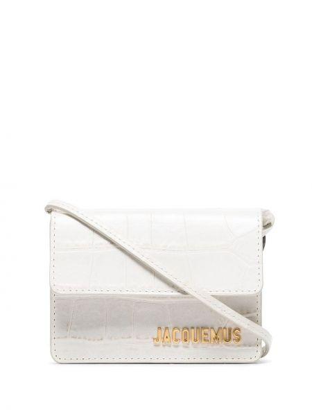 Белая кожаная сумка с тиснением Jacquemus