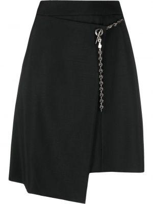 Spódnica kopertowa - czarna Givenchy