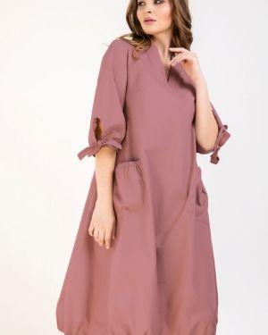 Платье в стиле бохо с карманами на каблуке металлическое Ellcora