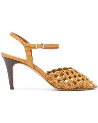 Кожаные туфли на каблуке на высоком каблуке Michel Vivien