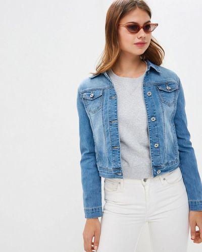 Джинсовая куртка весенняя голубая Bruebeck