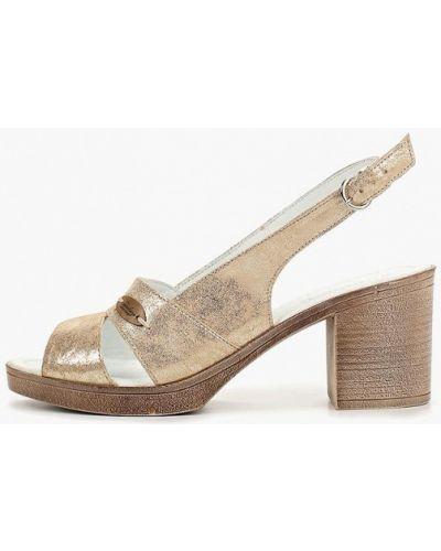 Босоножки на каблуке кожаные Shoiberg