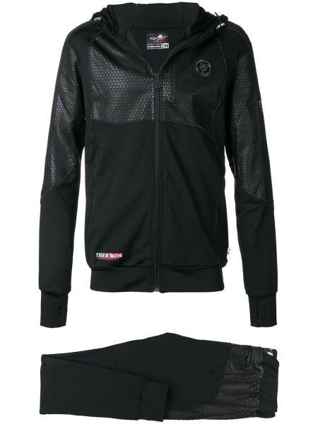 Куртка с капюшоном - черная Plein Sport