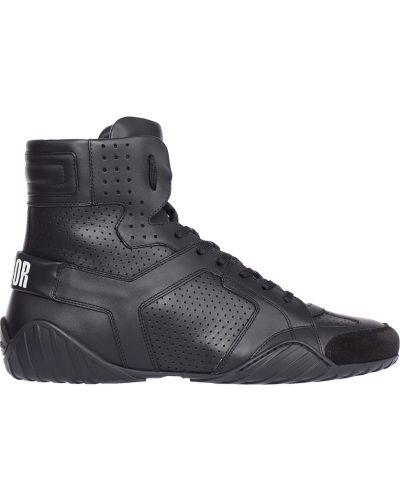 Кожаные кроссовки - черные Christian Dior