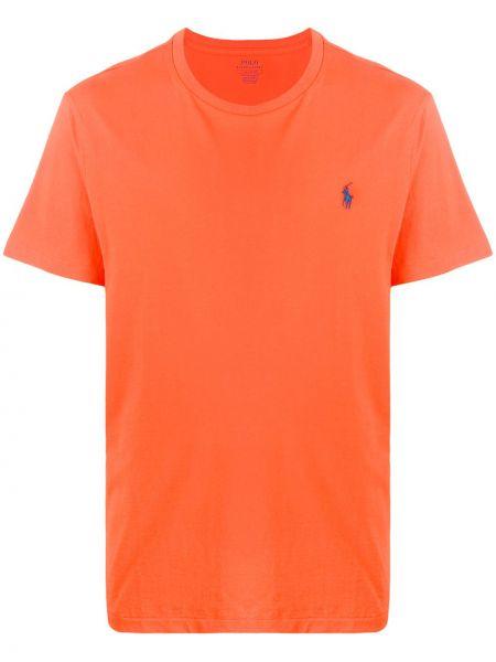 Koszula krótkie z krótkim rękawem prosto z haftem Ralph Lauren