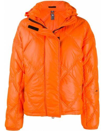 Оранжевый пуховик с капюшоном с высоким воротником Adidas By Stella Mccartney