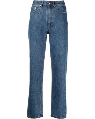 Синие с завышенной талией прямые джинсы A.p.c.