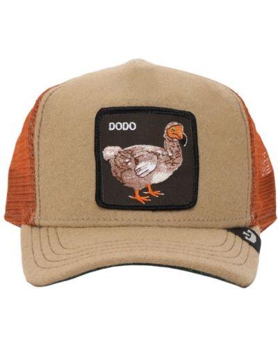 Beżowy kapelusz z haftem Goorin Bros