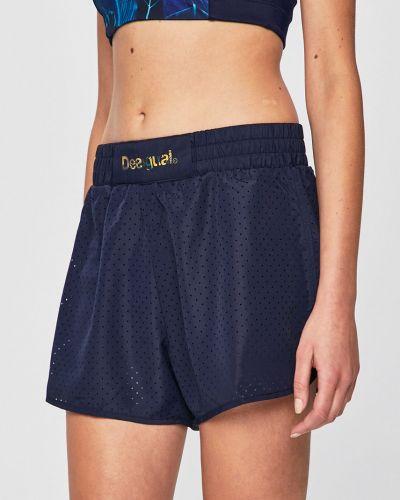 Спортивные шорты темно-синий с подкладкой Desigual Sport