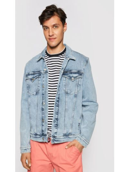 Kurtka jeansowa - niebieska Calvin Klein Jeans