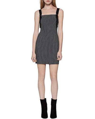 Черное коктейльное платье в полоску без рукавов Bcbgeneration