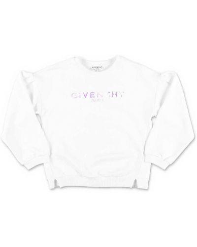 Biała bluza bawełniana vintage Givenchy