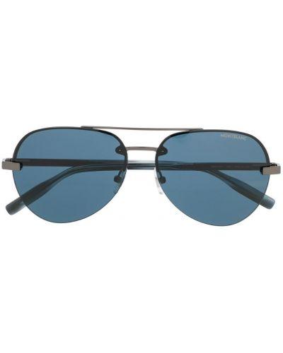 Очки авиаторы солнцезащитные синий Montblanc