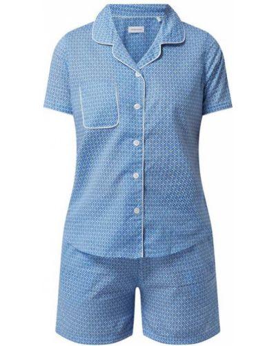 Niebieska piżama krótki rękaw Seidensticker